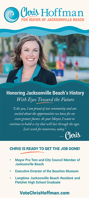 Chris Hoffman for Jacksonville Beach Mayor rack card